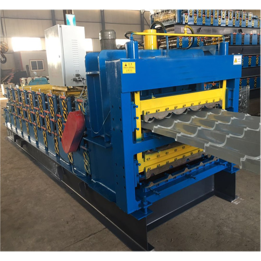 Corrugated Trapezoidal Glazed Three Layer Machine