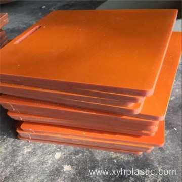 Equipment Component Hard Black/Orange Bakelite Plate