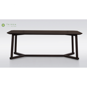 Rectangular Flat Solid Wood Dining Table