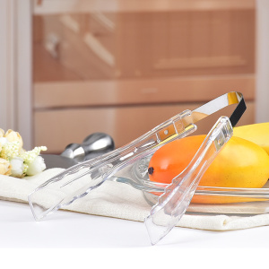 Transparent plastic Ice cube tongs for kitchen