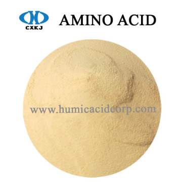 Factory source manufacturing for Amino Acid Fertilizer 30% 50% Amino Acid Plant Source Yellow powder export to South Korea Factory
