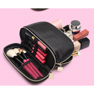 Small PU Leather Women Makeup Cosmetic Pouch Bag
