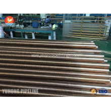 Customized for  Copper Nickel 90/10 SB111 C70600-061 Low Fin Tube supply to Kuwait Exporter