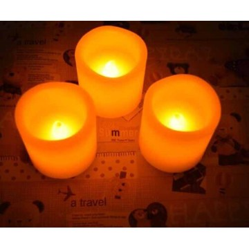 Flameless LED Wax Pillar Candles with Remote