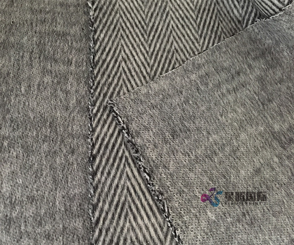 Herringbone Wool Blended Woven Fabric