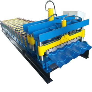 828 mm Glazed tile aluminium roof sheet machine