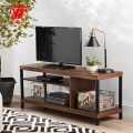 Simple industrial design tv stand with metal legs