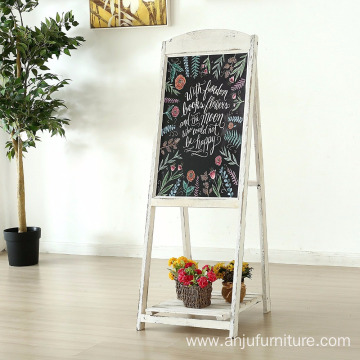 1/2/3 Tiers Wooden Stand Display Shelf With Blackboard