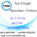 Shenzhen Port Sea Freight Shipping To Toleary