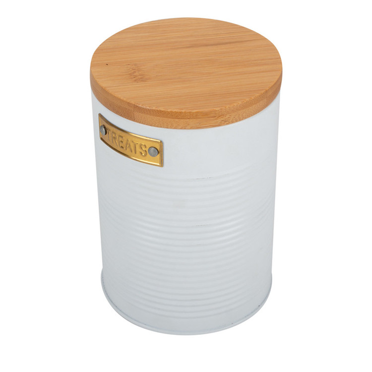 Metal White Canister Set
