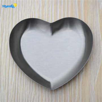 Stainless Steel Heart shaped serving dish
