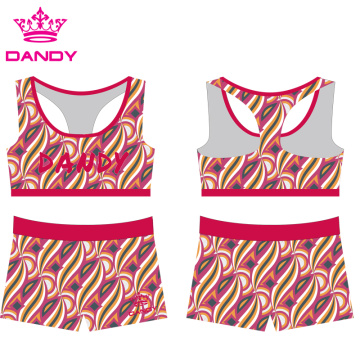 Custom Printing Sublimated Cheerleading Practice Wear