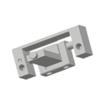 Cabinet ZDC Steel Pin Sandblasting-coated External Hinges
