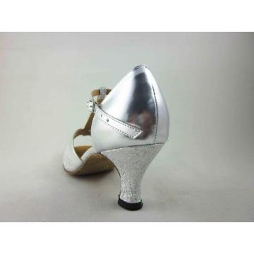 Silver ladies latin shoes