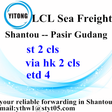 China supplier OEM for Sea Freight LCL Chaozhou Ceramics Shipping To Pasir Gudang export to Armenia Manufacturer
