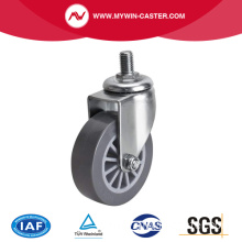 Mini 2.5 Inch 35Kg Threaded Swivel PU Caster