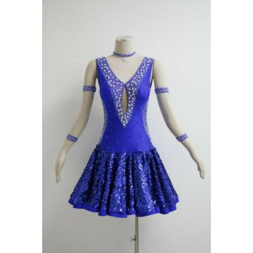 Blue salsa performance outfits
