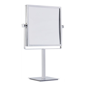 Square standing magnifying mirror