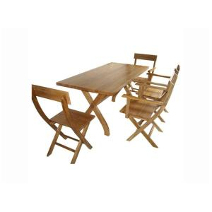 Outdoor Solid Wood Table Set