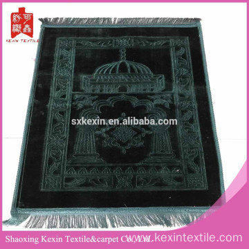 Thick green color foldable muslim prayer mat