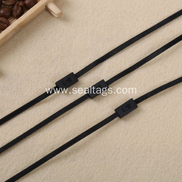 Black ribbon cord high quality brand tag seal