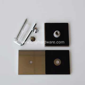 180 Degree Brass Wall Mount Glass Clamp