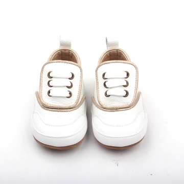 Handmade Factory Baby Kids White Oxford Casual Shoes