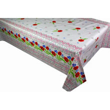 Pvc Printed fitted table covers Table Linens Lace