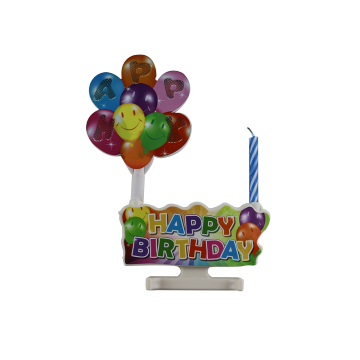 Electronical sing happy birthday music candle