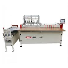 Double work position hardcover making machine