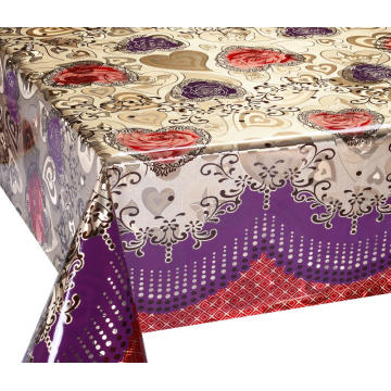 Double Face Emboss printed Gold Silver Tablecloth Patterns