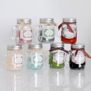 Customized 100% Essence Oil candle in glass holder