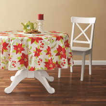 Tablecloth PE with Needle-punched Cotton  Flower Round