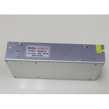 Led Driver 12V 16.7A 200W Silvery Color Power Supply