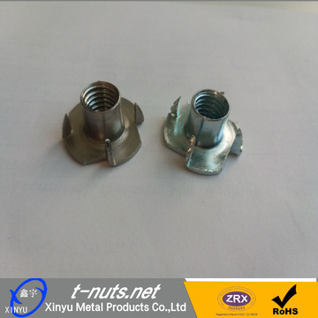 Zinc Plated 4 Prong Tee nuts