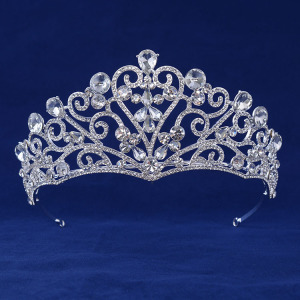 Heart Crystal Diamond Crown For Wedding Anniversary