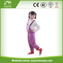 Kids Purple PU polyester rain pants