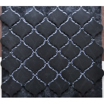 Low Water Absorption Black Porcelain Mosaic Tile