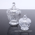 Clear glass jar with lid