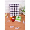 Paraffin Wax Mini Flat Top Votive Candles
