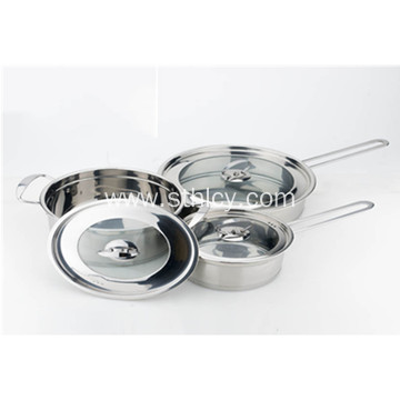 3-Piece Multiclad Stainless Steel Cookware Set