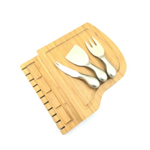 Piano shape bamboo cheese board with cheese knife