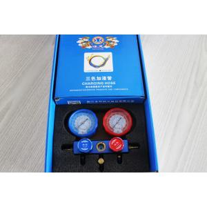 factory customized for Ac Manifold Gauge Set Aluminum 3way manifold gauge with hose supply to Sudan Suppliers