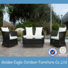 Outdoor wicker furniture wide rattan patio sofa
