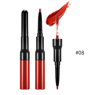Waterproof Double Ended OEM Matte Lips Liner Pencil