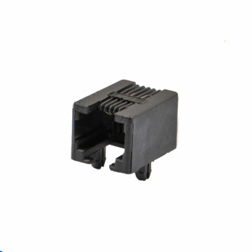 RJ11 JACK  6P4C SIDE Entry Full Plastic