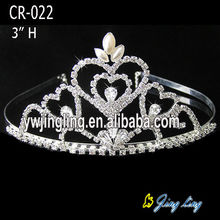 Small Rhinestone Pageant Crowns Wedding Tiaras