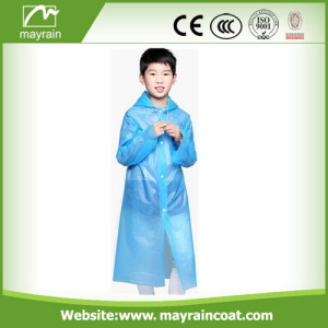 Blue Color PE Raincoat