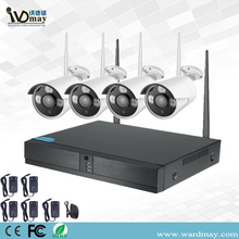 Fixed Competitive Price for Wireless CCTV Camera Kit CCTV 4CH 1.0MP Wireless WiFi NVR System supply to Spain Manufacturer