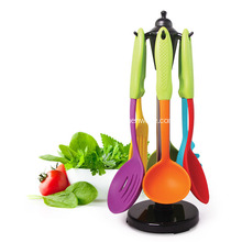 China for Steel Tube Kitchen Tools Colorful Silicone Utensils set supply to Indonesia Importers